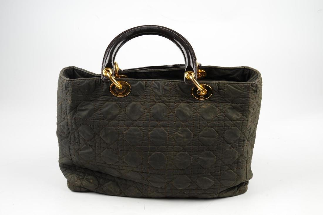 CHRISTIAN DIOR - a nylon Cannage Lady Dior handbag. - 2