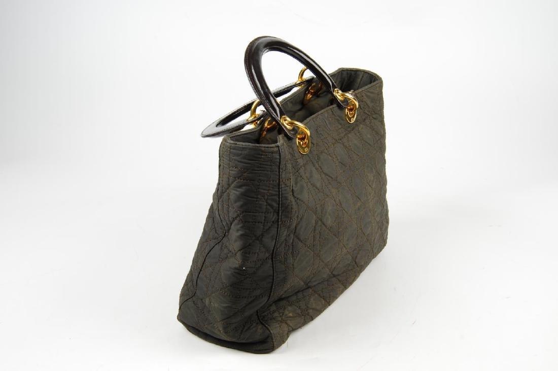 CHRISTIAN DIOR - a nylon Cannage Lady Dior handbag. - 3