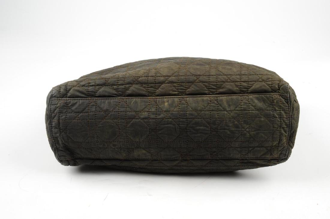 CHRISTIAN DIOR - a nylon Cannage Lady Dior handbag. - 4