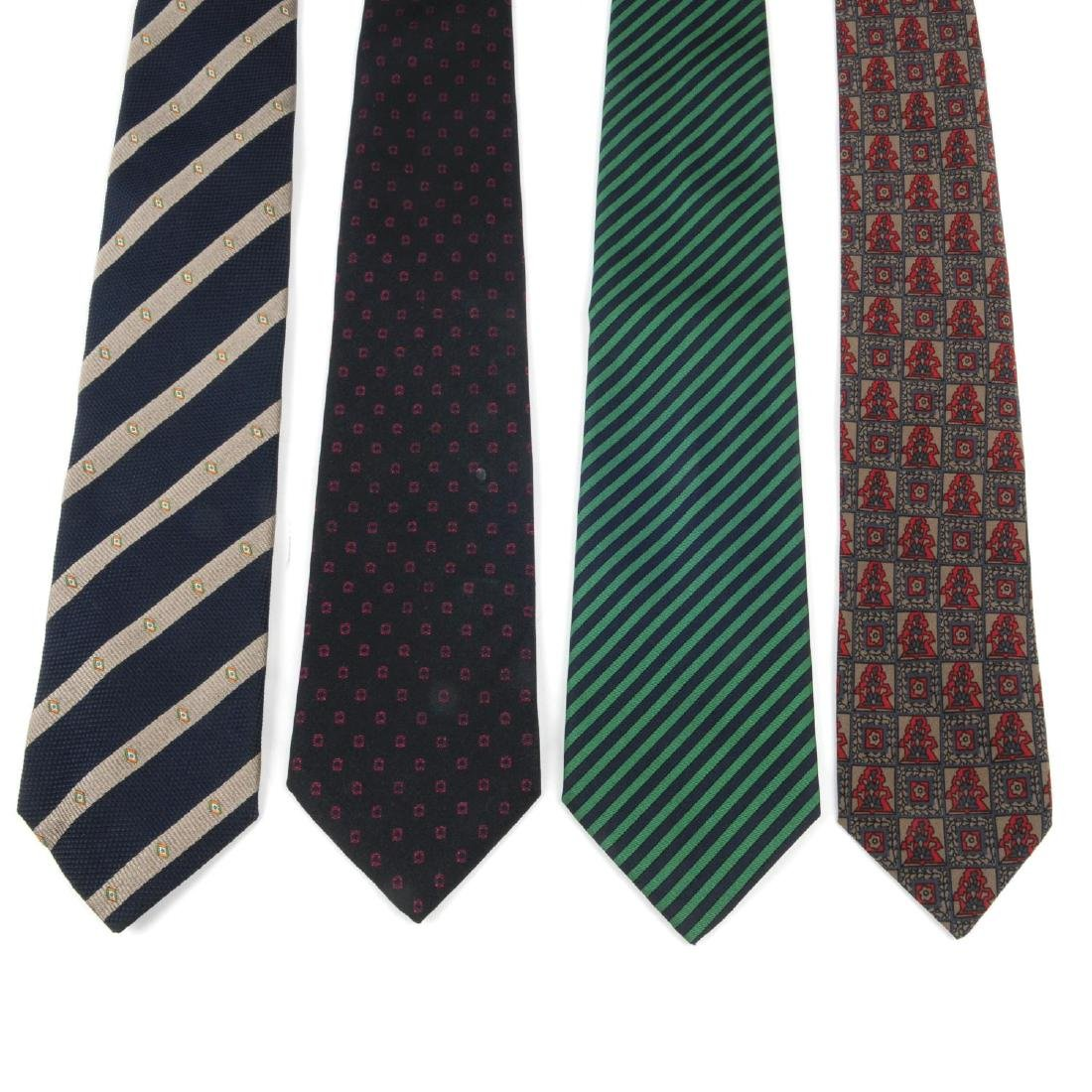 CHRISTIAN DIOR - six ties. To include three ties with
