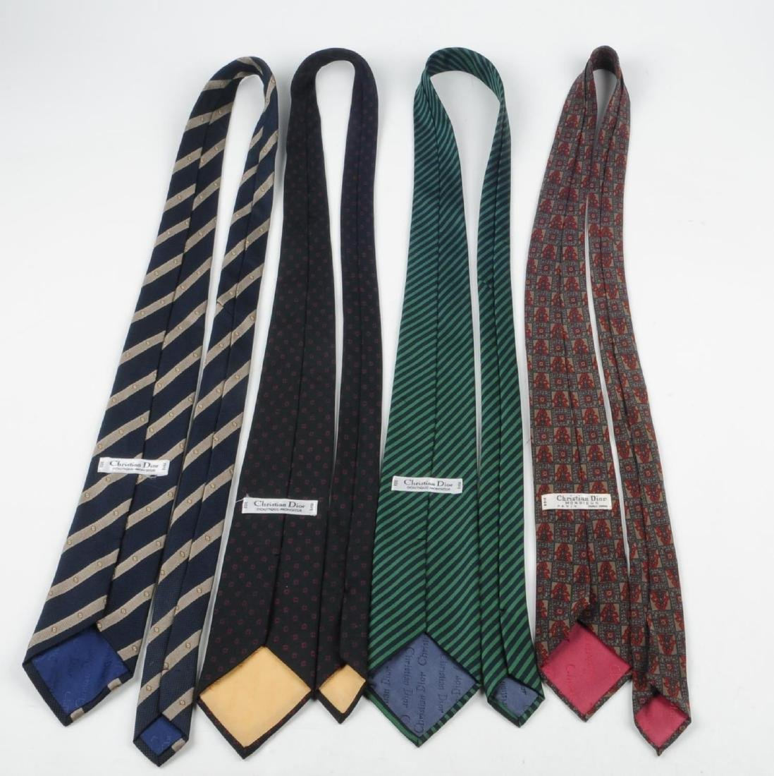 CHRISTIAN DIOR - six ties. To include three ties with - 2