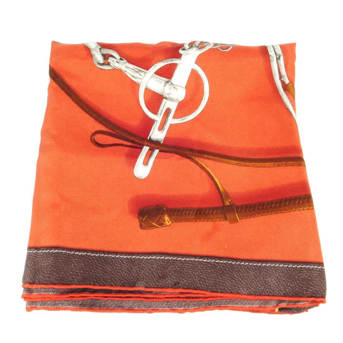 HERMÈS - a 'Projets Carres' scarf. Created by Henri