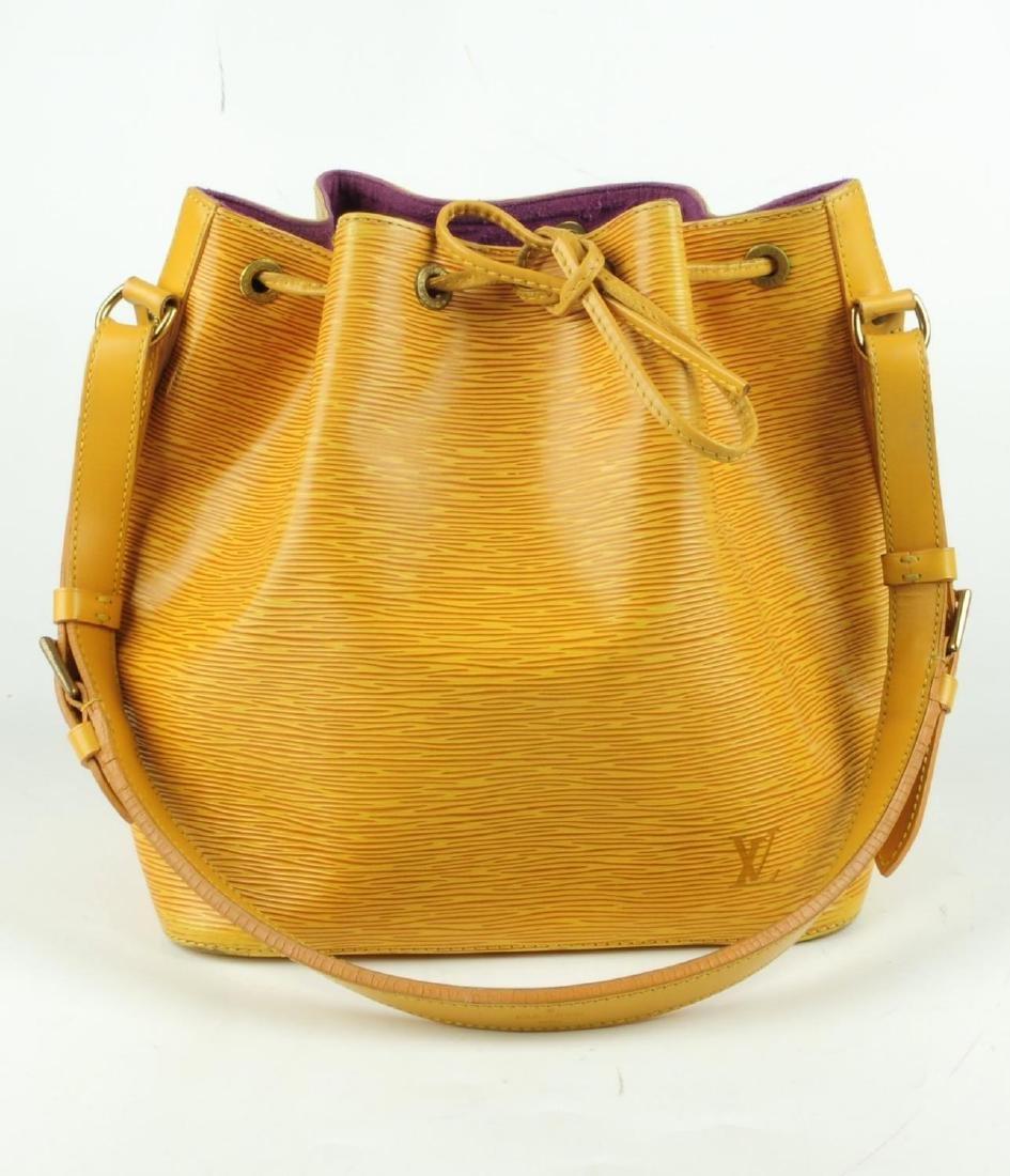 LOUIS VUITTON - a yellow Epi Petite Noe bucket handbag. - 2