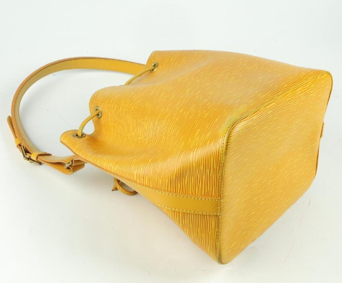 LOUIS VUITTON - a yellow Epi Petite Noe bucket handbag. - 4