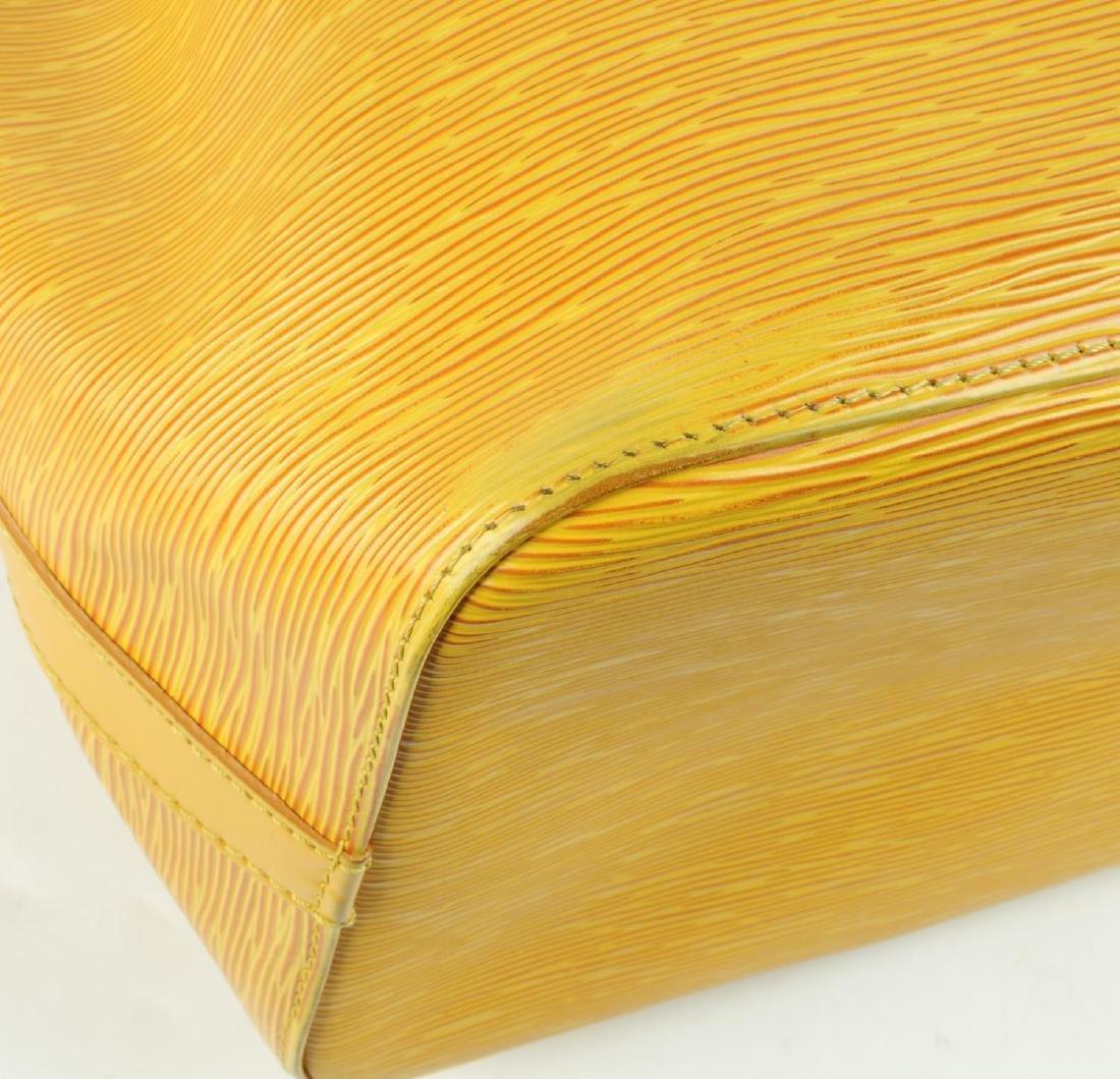 LOUIS VUITTON - a yellow Epi Petite Noe bucket handbag. - 5
