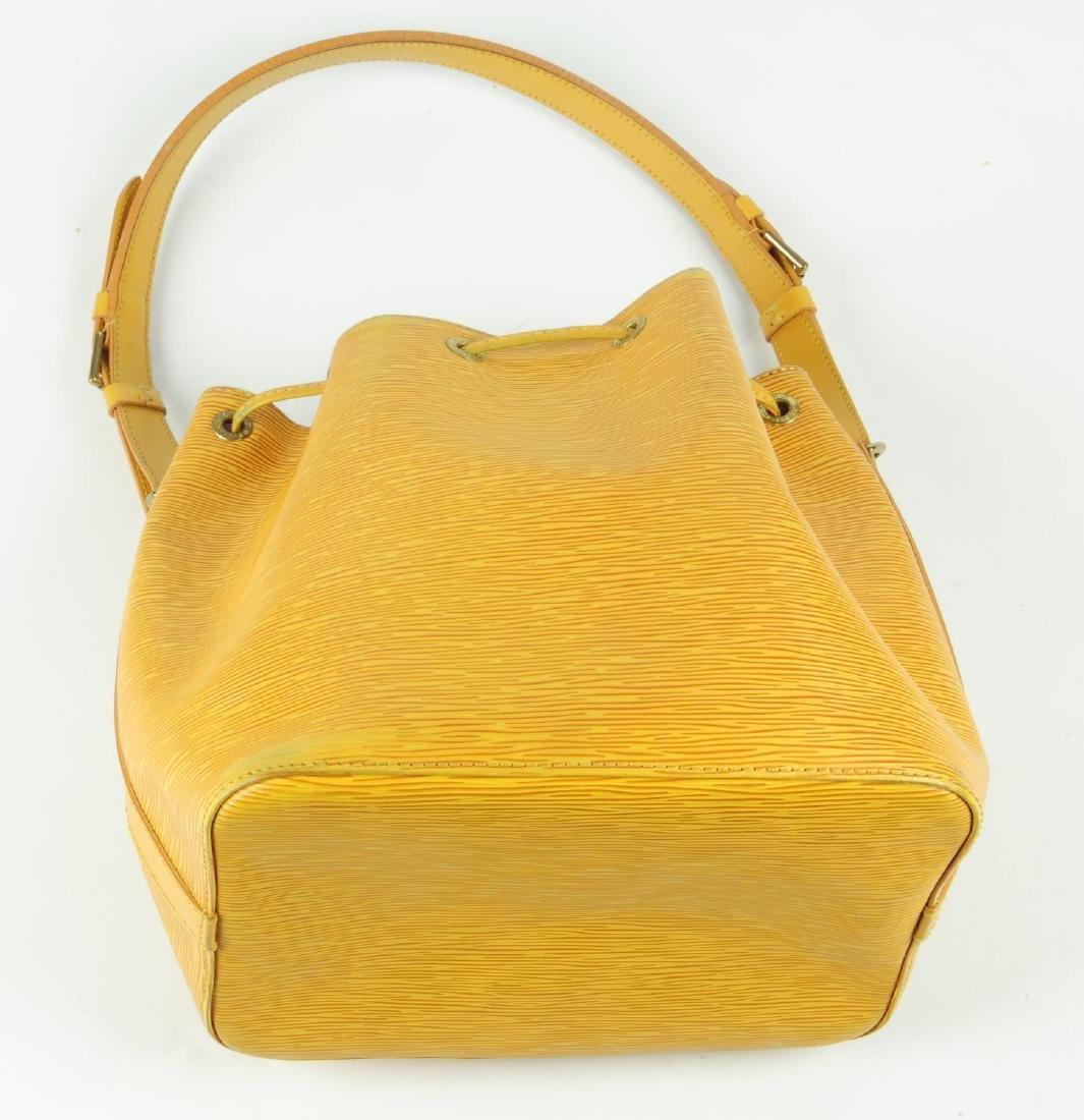 LOUIS VUITTON - a yellow Epi Petite Noe bucket handbag. - 6