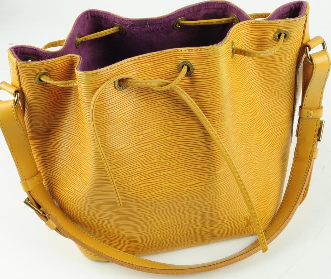 LOUIS VUITTON - a yellow Epi Petite Noe bucket handbag. - 7