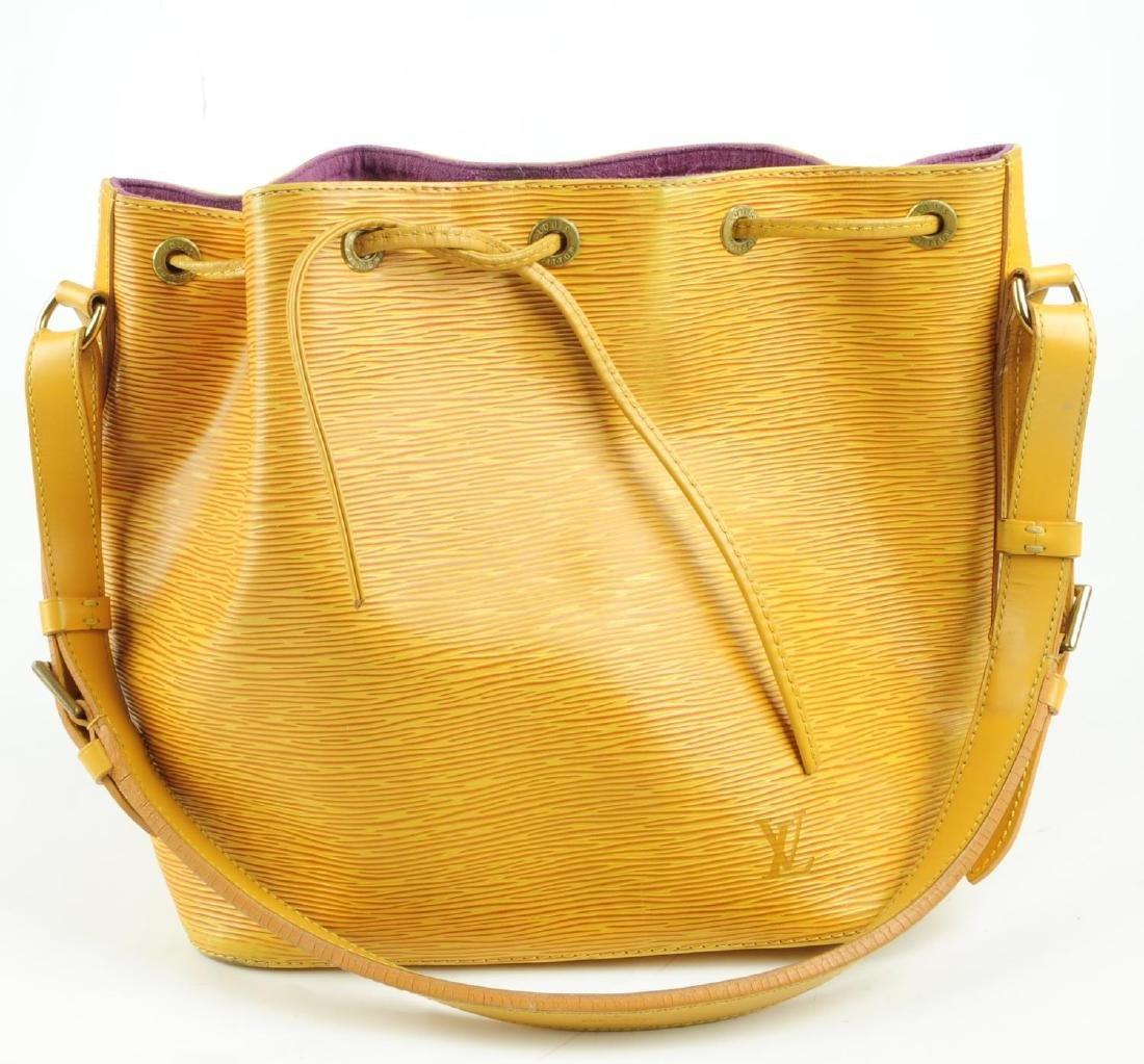 LOUIS VUITTON - a yellow Epi Petite Noe bucket handbag. - 8