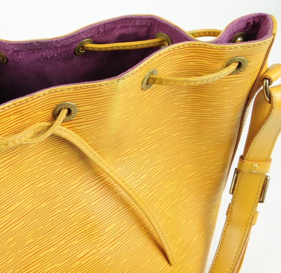 LOUIS VUITTON - a yellow Epi Petite Noe bucket handbag. - 9