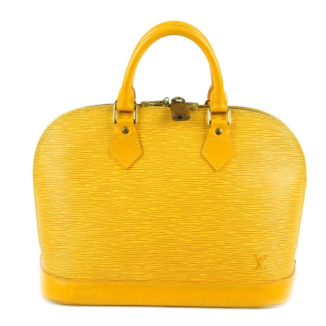LOUIS VUITTON - an Epi Alma PM handbag. Designed with a