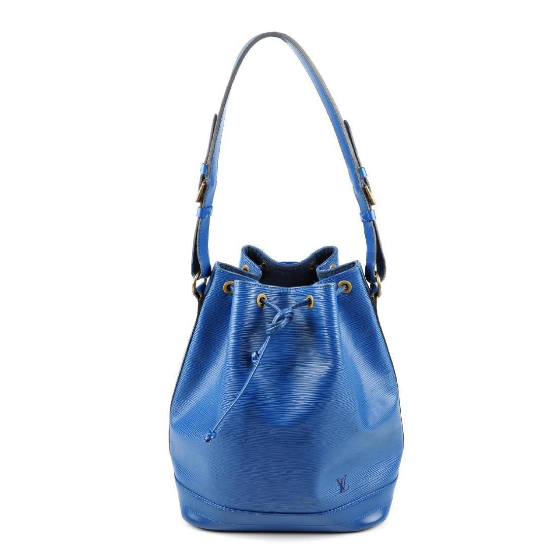 LOUIS VUITTON - a blue Epi Noe GM bucket handbag.