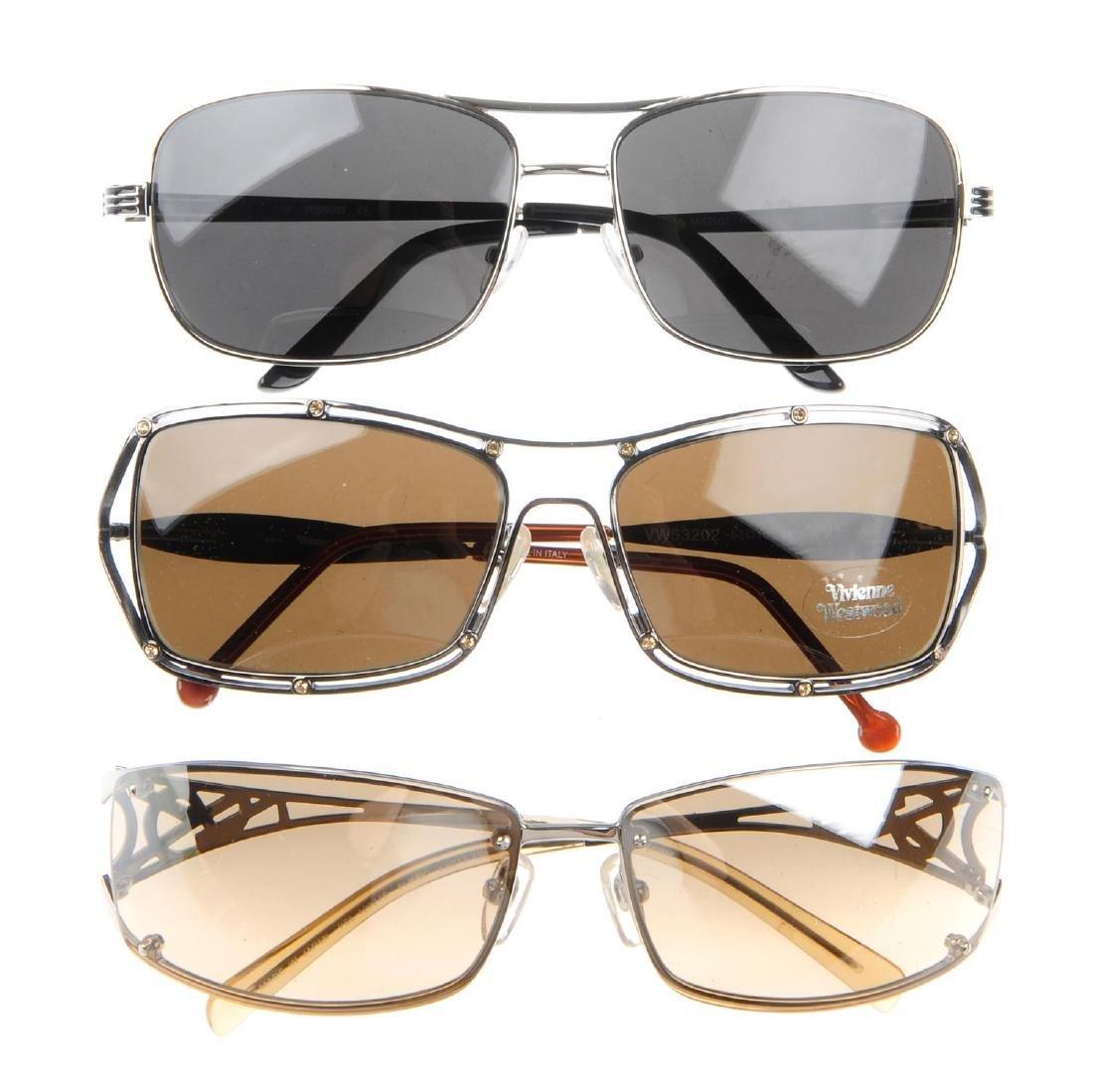 Three pairs of designer sunglasses. To include a pair