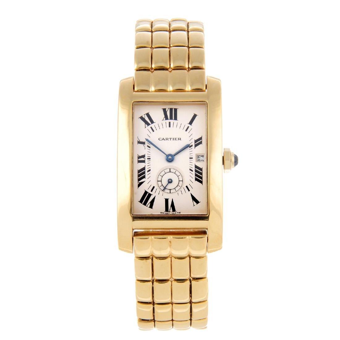 CARTIER - a Tank Américaine bracelet watch. 18ct yellow