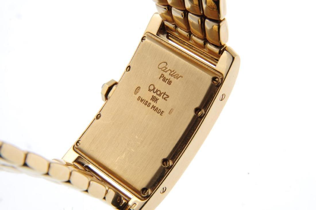 CARTIER - a Tank Américaine bracelet watch. 18ct yellow - 4