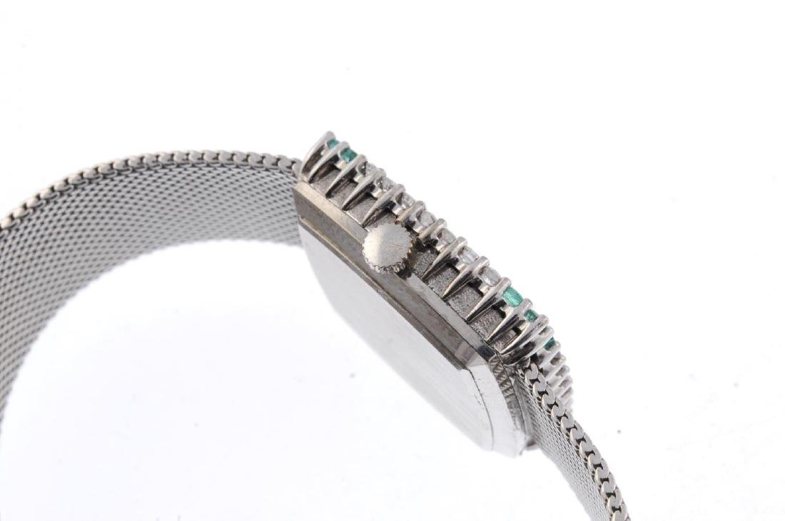 OMEGA - a lady's bracelet watch. White metal factory - 3