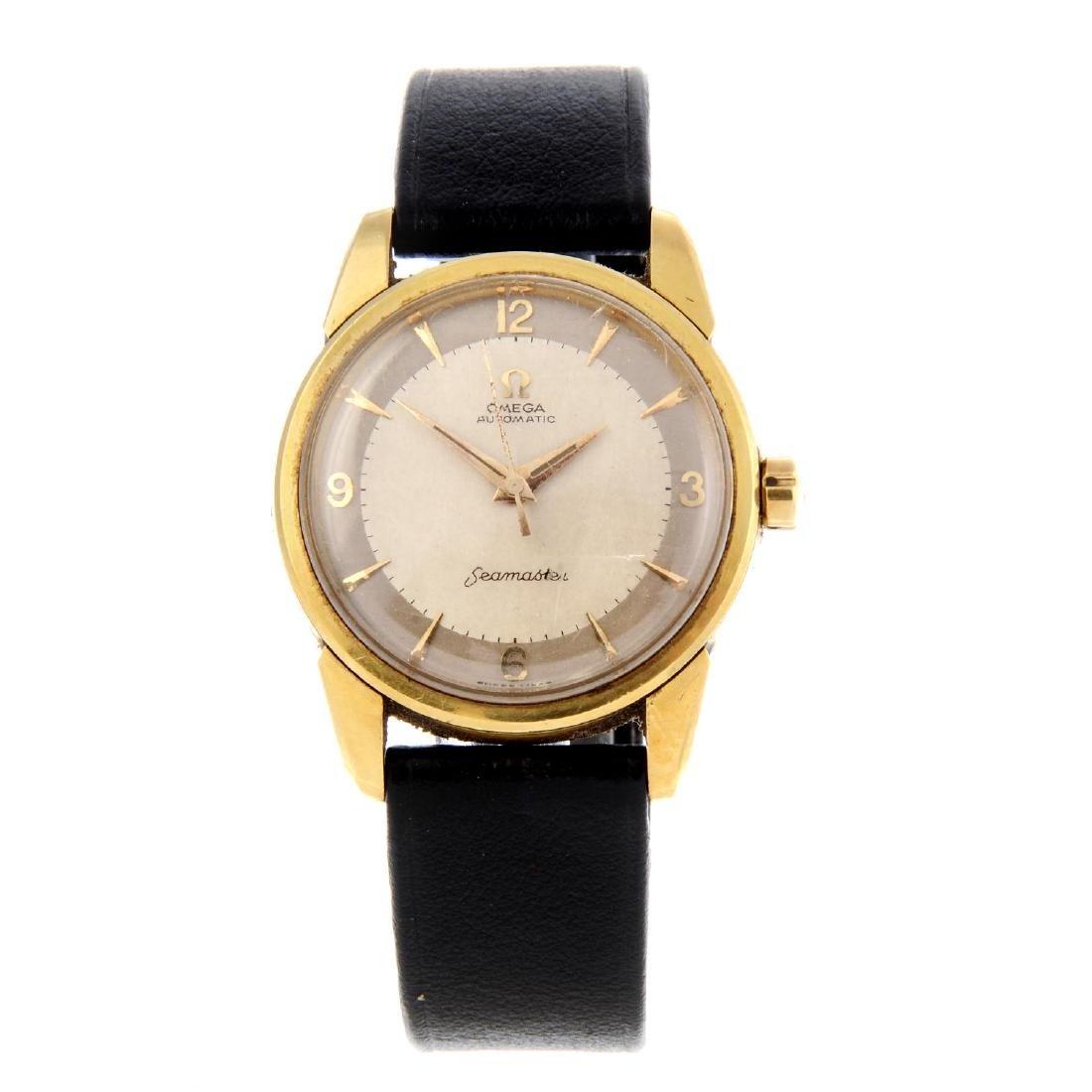 OMEGA - a gentleman's Seamaster wrist watch. 18ct