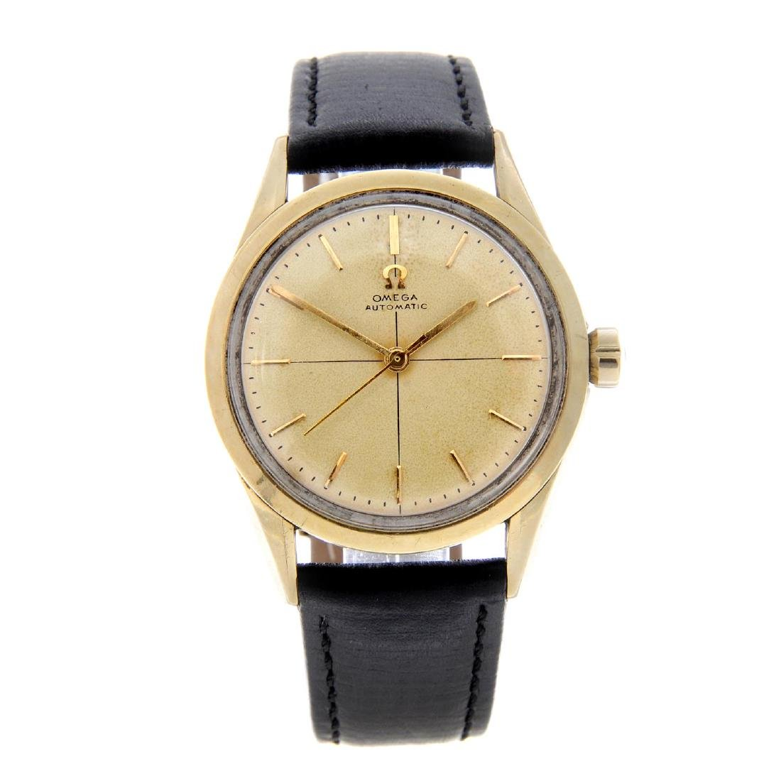 OMEGA - a gentleman's wrist watch. Gold capped case