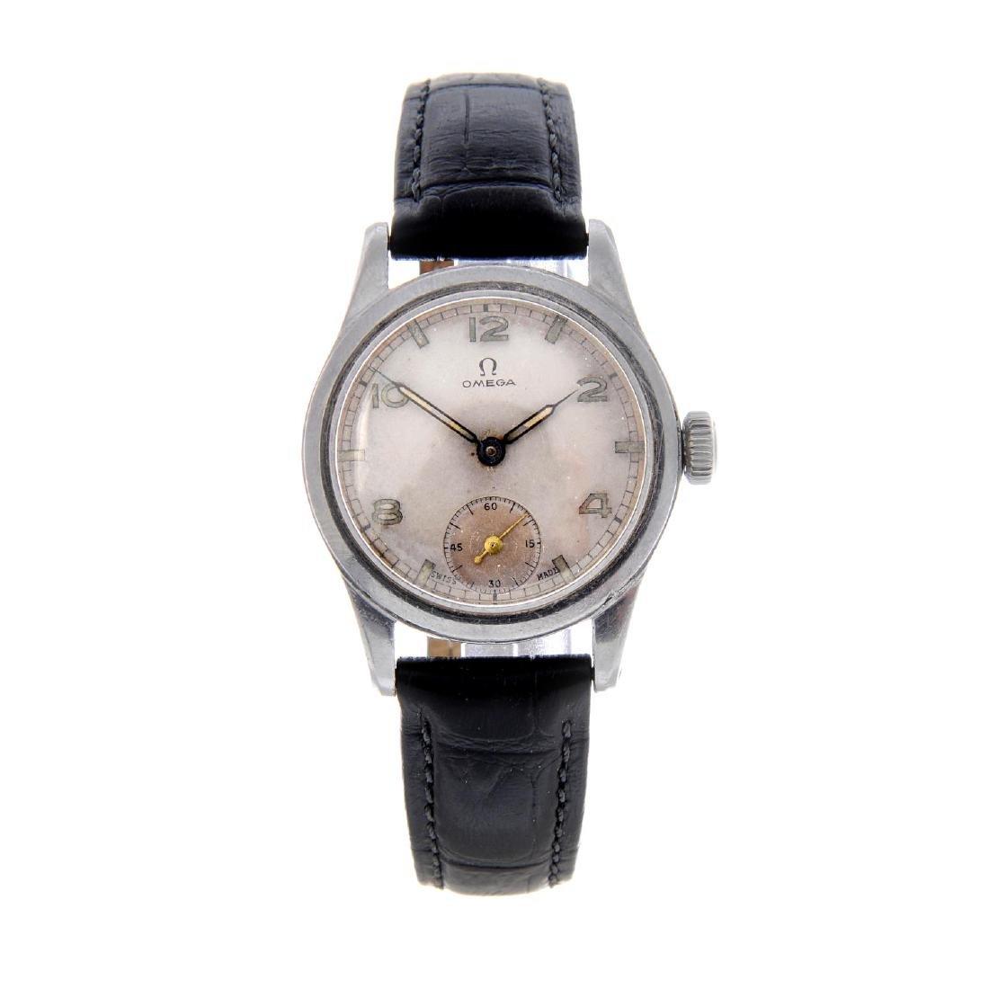 OMEGA - a gentleman's wrist watch. Stainless steel