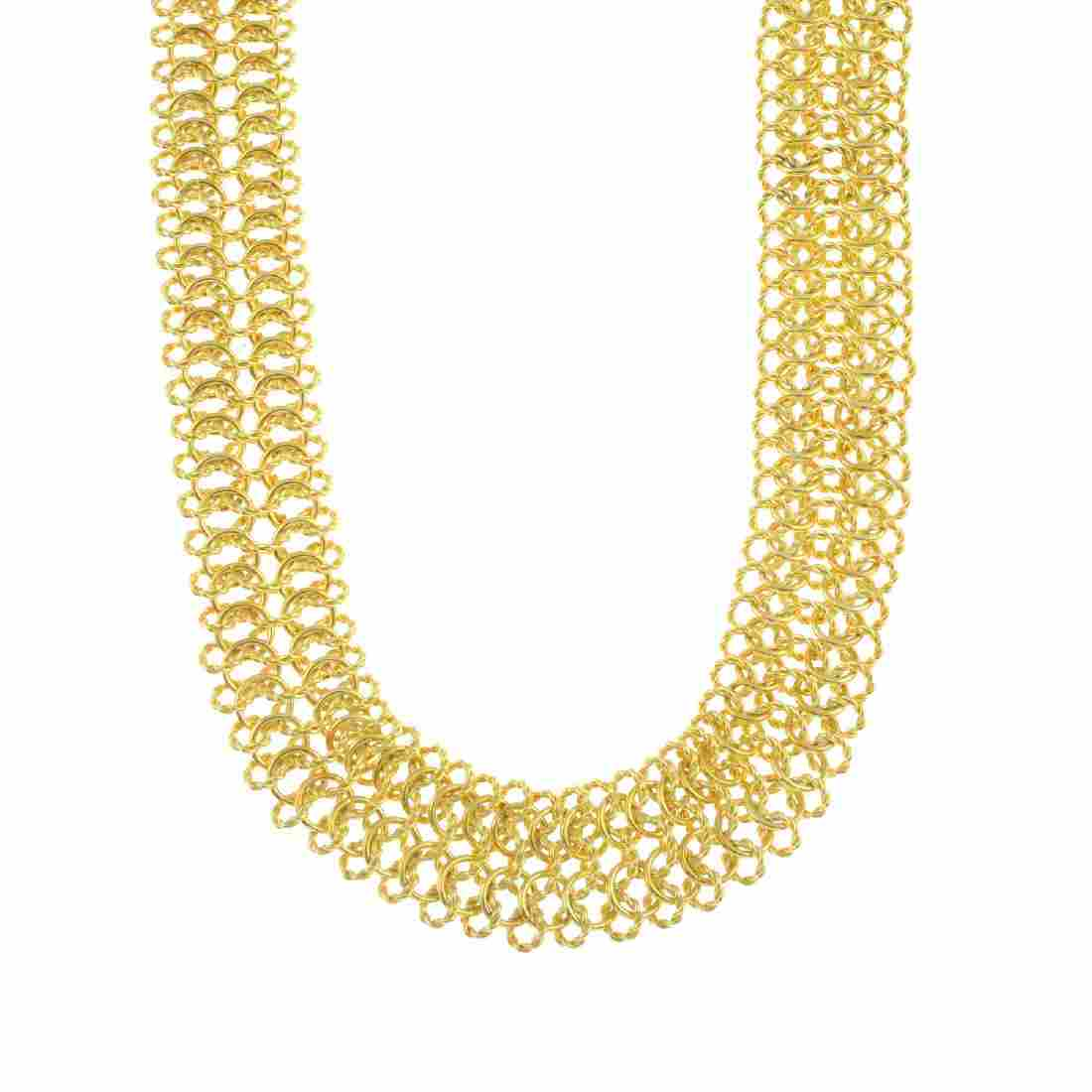 DAVID YURMAN - a diamond necklace. The fancy-link chain