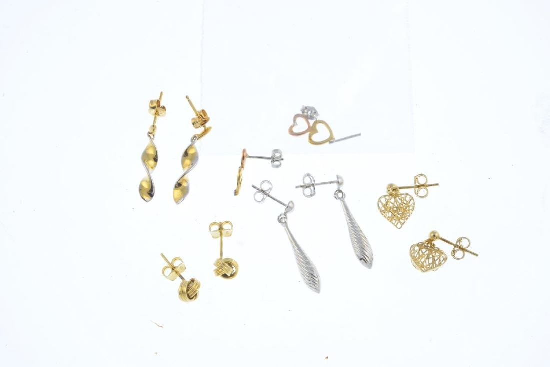 Five pairs of earrings.  To include a pair of circular - 2
