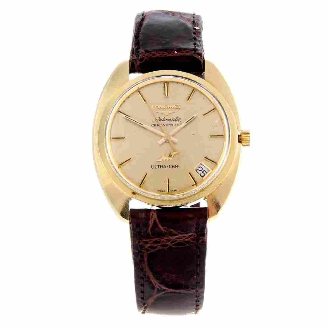 LONGINES - a gentleman's Ultra-Chron wrist watch.