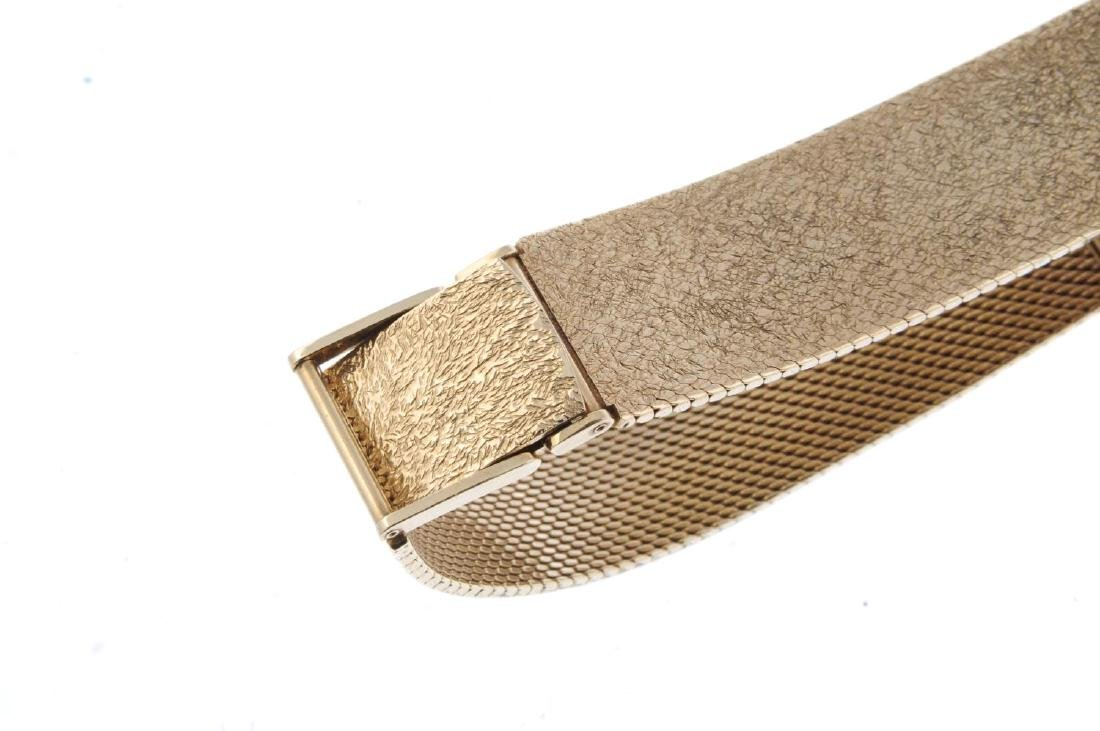 LONGINES - a gentleman's bracelet watch. 9ct yellow - 2