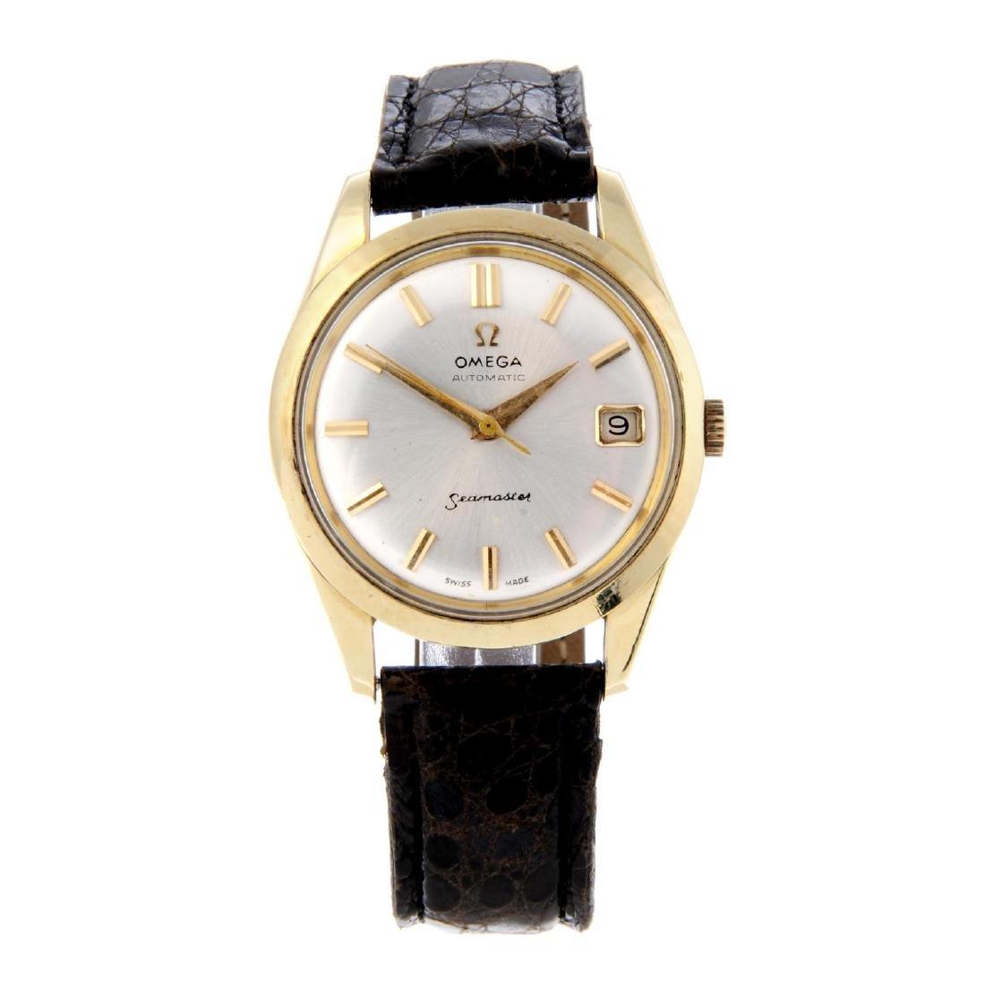 OMEGA - a gentleman's Seamaster wrist watch. Gold