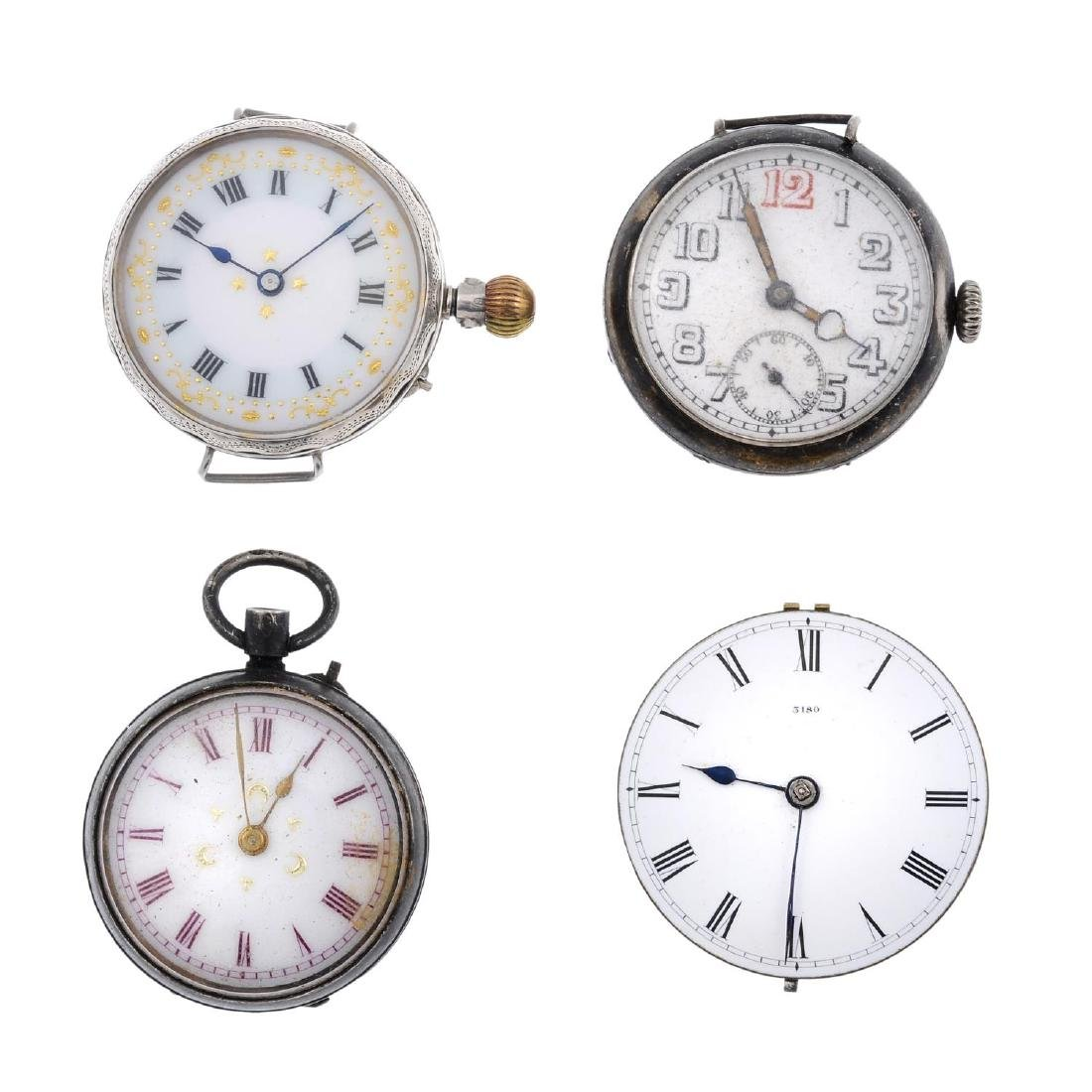 A group of six assorted watches, a pocket watch and a