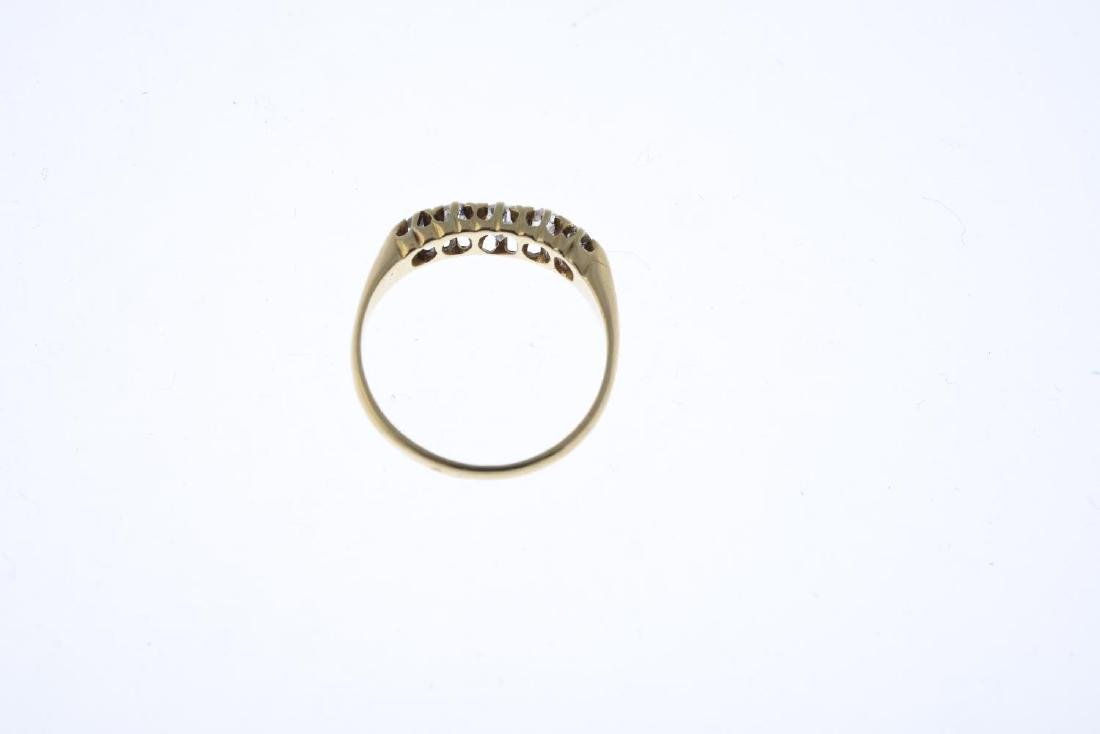A late Victorian 18ct gold diamond five-stone ring. The - 2
