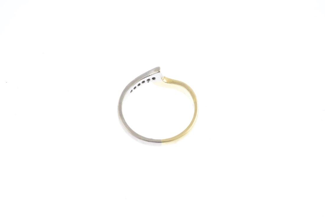 A diamond band ring. Of bi-colour design, the - 2