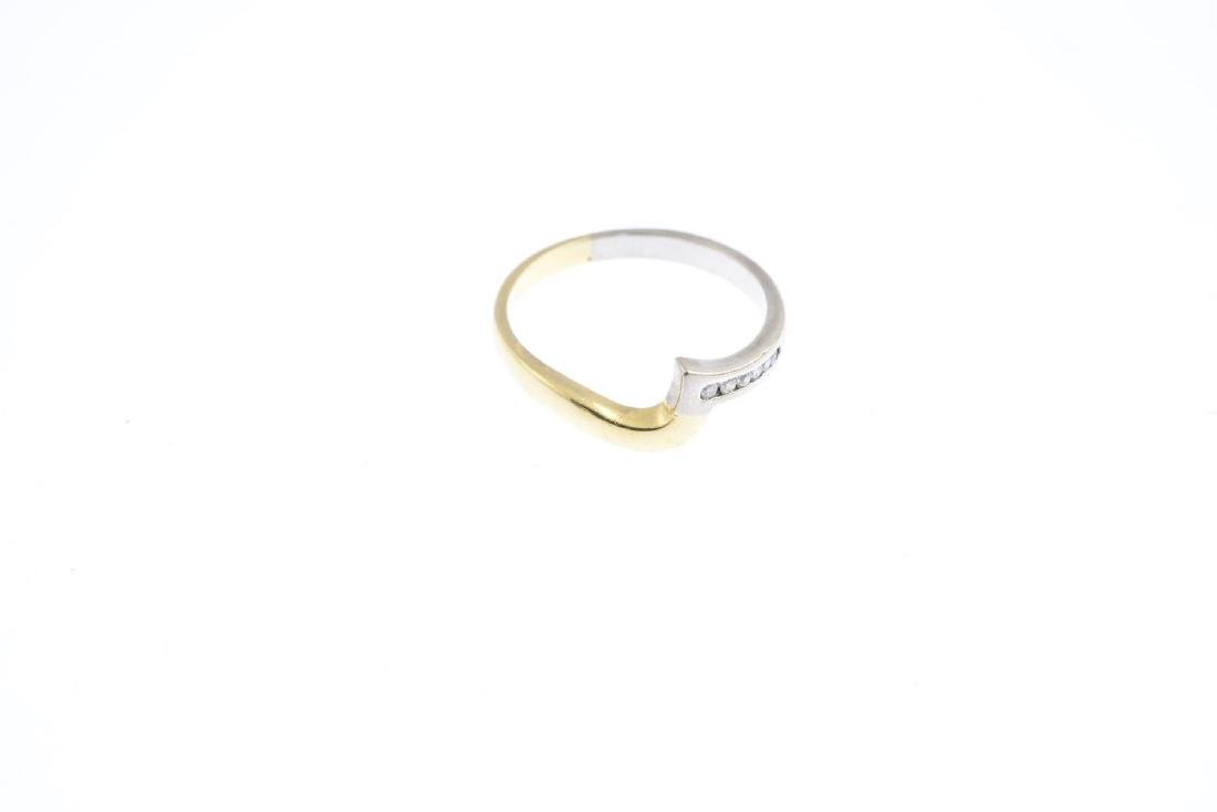 A diamond band ring. Of bi-colour design, the - 3