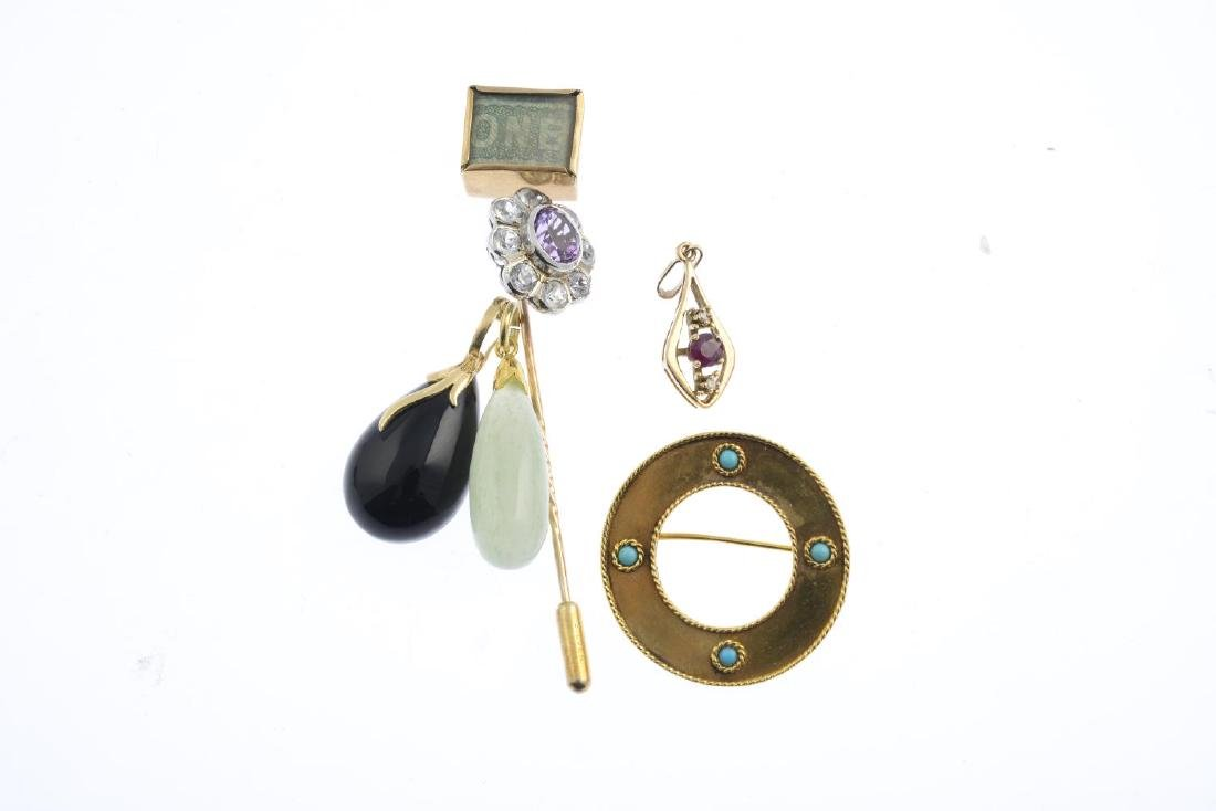 A selection of gem-set jewellery. To include a 1970s - 2