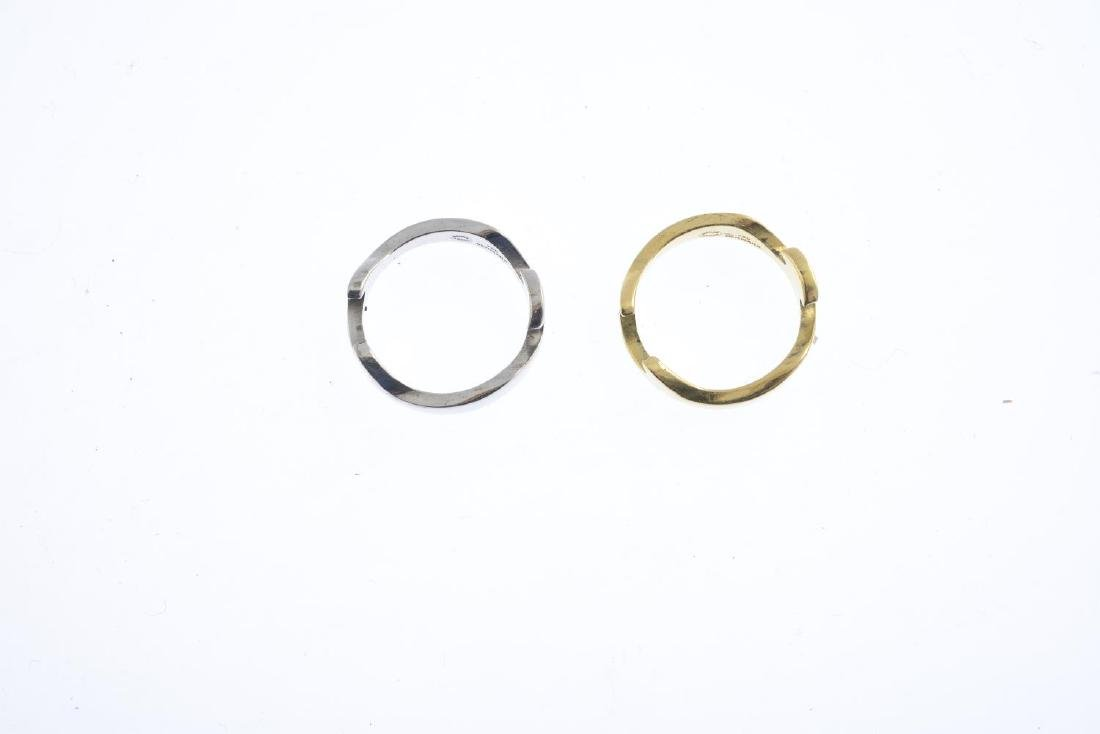 GEORG JENSEN - an 18ct gold 'Fusion' ring. Comprising - 2