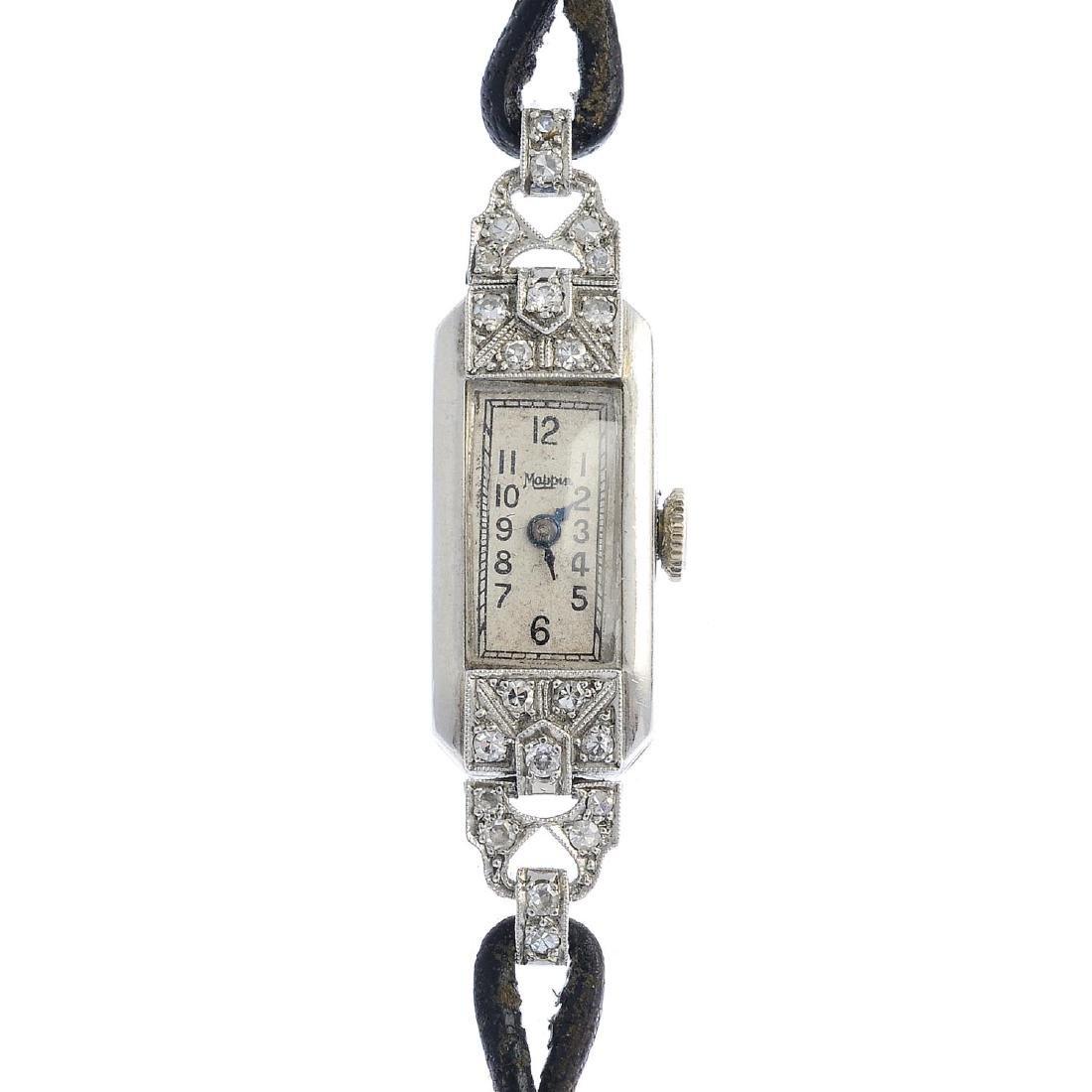 MAPPIN - a lady's mid 20th century platinum diamond