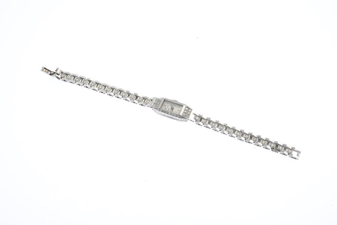A lady's mid 20th century platinum diamond cocktail - 2