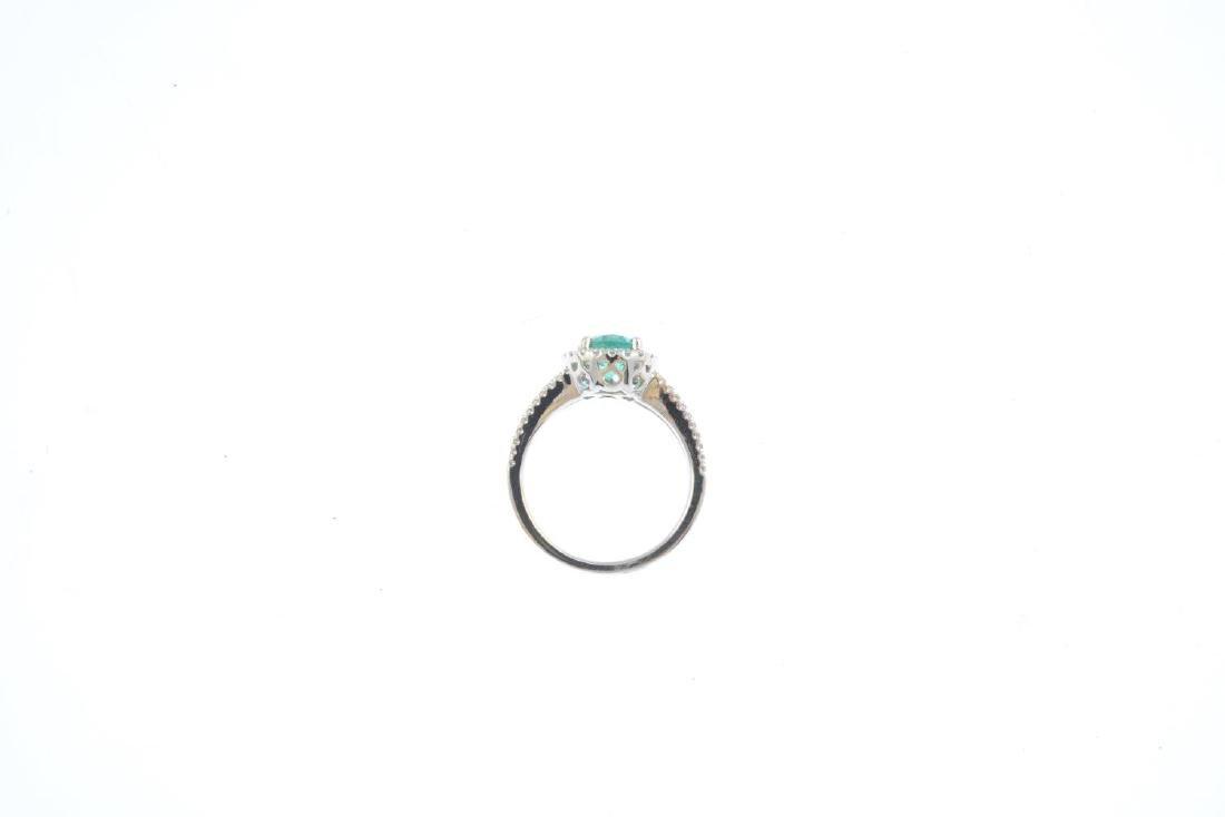 An emerald and diamond dress ring. Designed as an - 2
