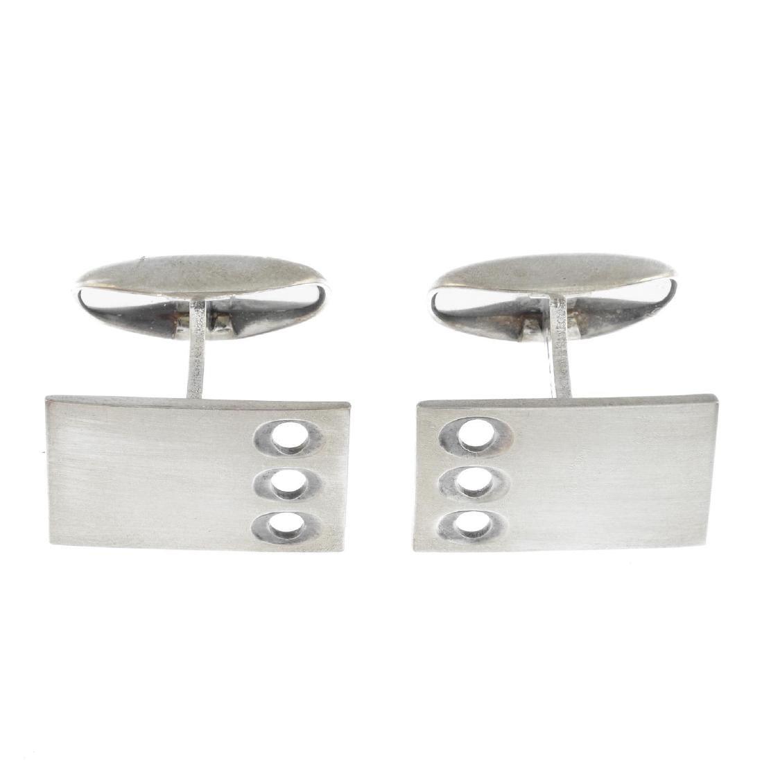 MARTTI VIIKINNIEMI - a pair of 1960s silver cufflinks.