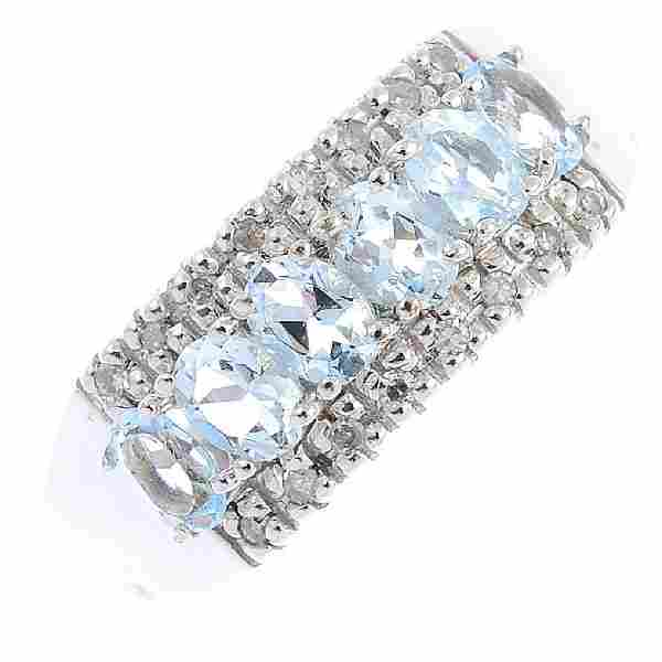 Two items of diamond and gem-set jewellery. To include