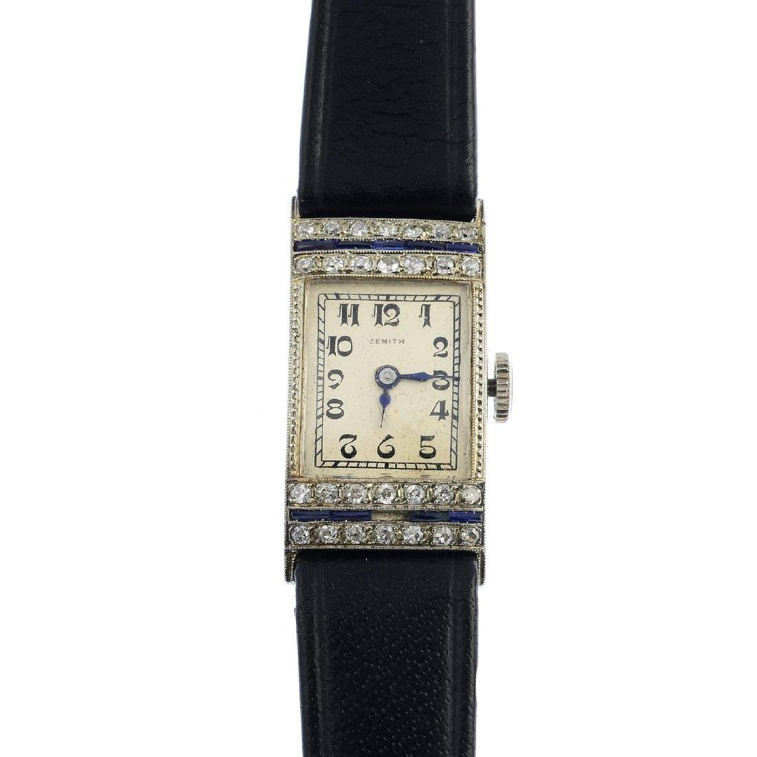 ZENITH - a lady's Art Deco 18ct gold diamond cocktail
