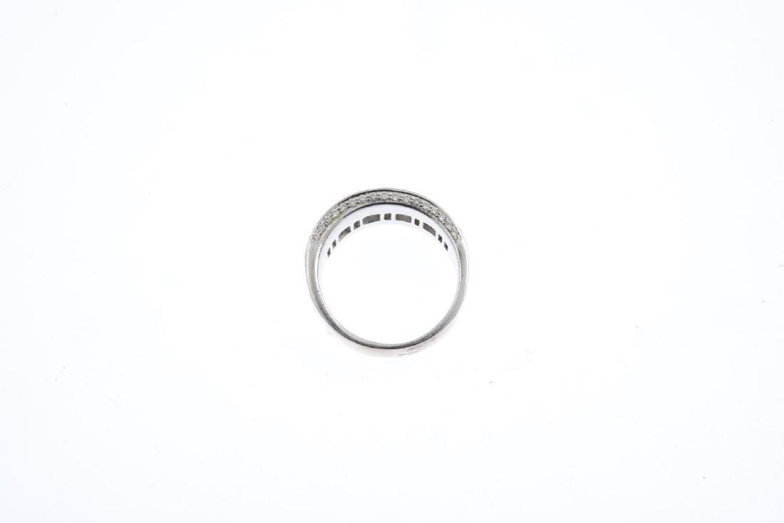 (21482) A diamond band ring. Designed as a baguette-cut - 2