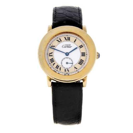 f06f41b9220 CARTIER - a Must De Cartier wrist watch. Gold plated