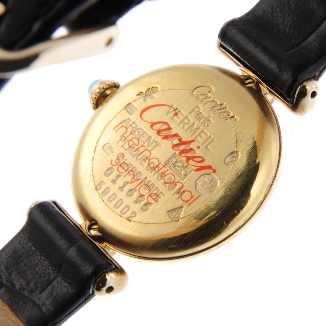 CARTIER - a Must De Cartier Tank wrist watch. Gold - 3