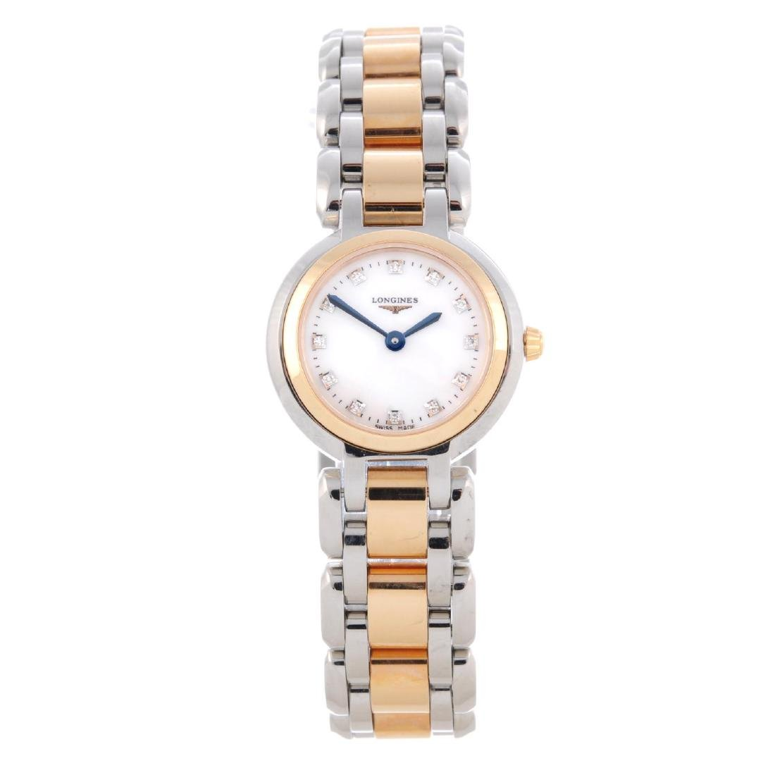 LONGINES - a lady's PrimaLuna bracelet watch. Stainless