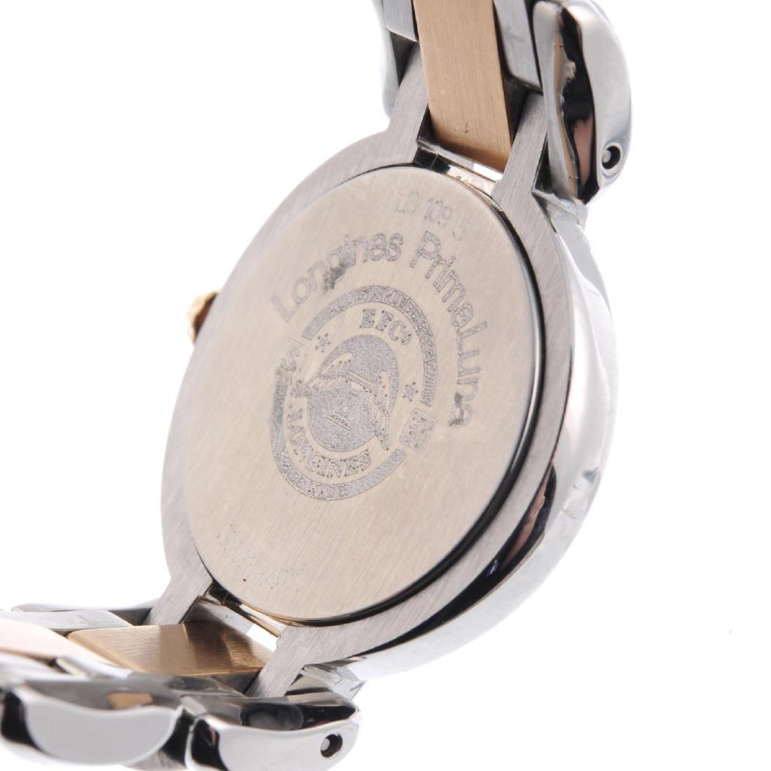 LONGINES - a lady's PrimaLuna bracelet watch. Stainless - 4
