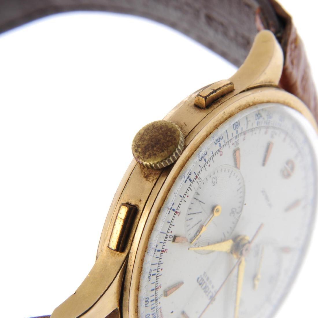 TERIAM - a gentleman's chronograph wrist watch. Yellow - 4