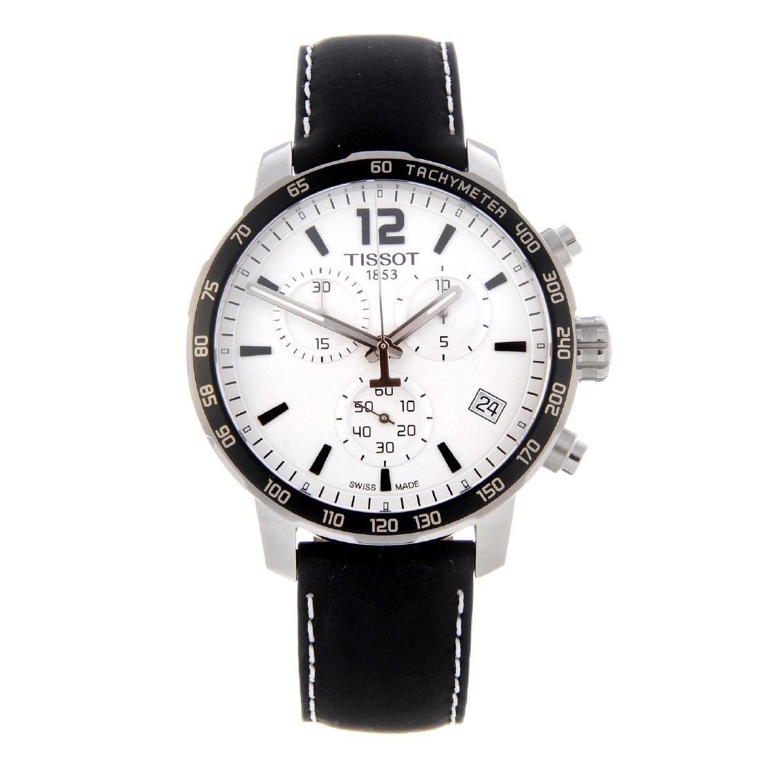 TISSOT - a gentleman's Quickster chronograph wrist