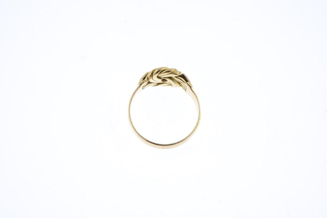 An early 20th century 18ct gold diamond ring. Designed - 2