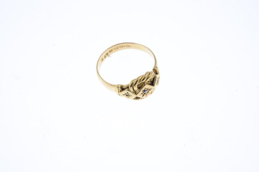 An early 20th century 18ct gold diamond ring. Designed - 3