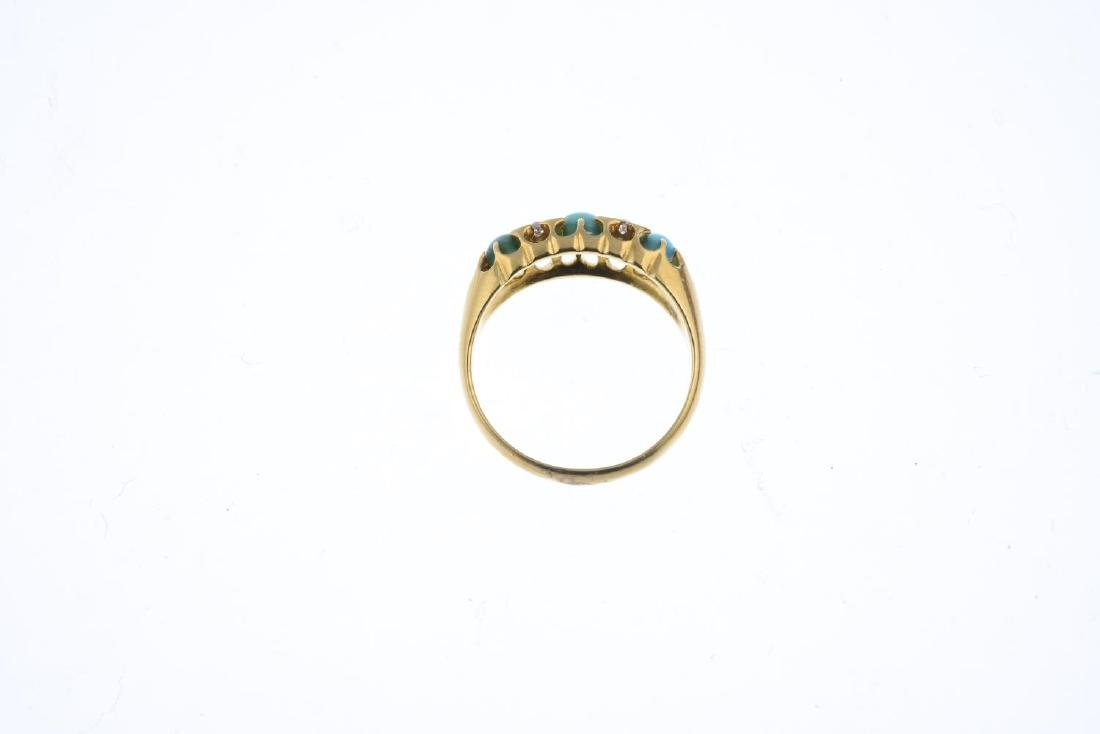 An early 20th century 18ct gold turquoise and diamond - 2