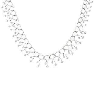 A diamond necklace Designed as a graduated series of
